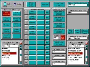 Matrix Plasma Asher Descum System -Auto Sequence Setup screen