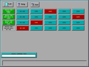 Matrix Plasma Asher Descum System -RS-232 Configure screen
