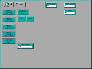 Matrix Plasma Asher Descum System Throttle Valve Test screen